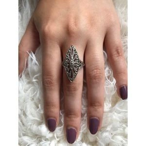 Jewelry - Art Deco marquise marcasite Ring